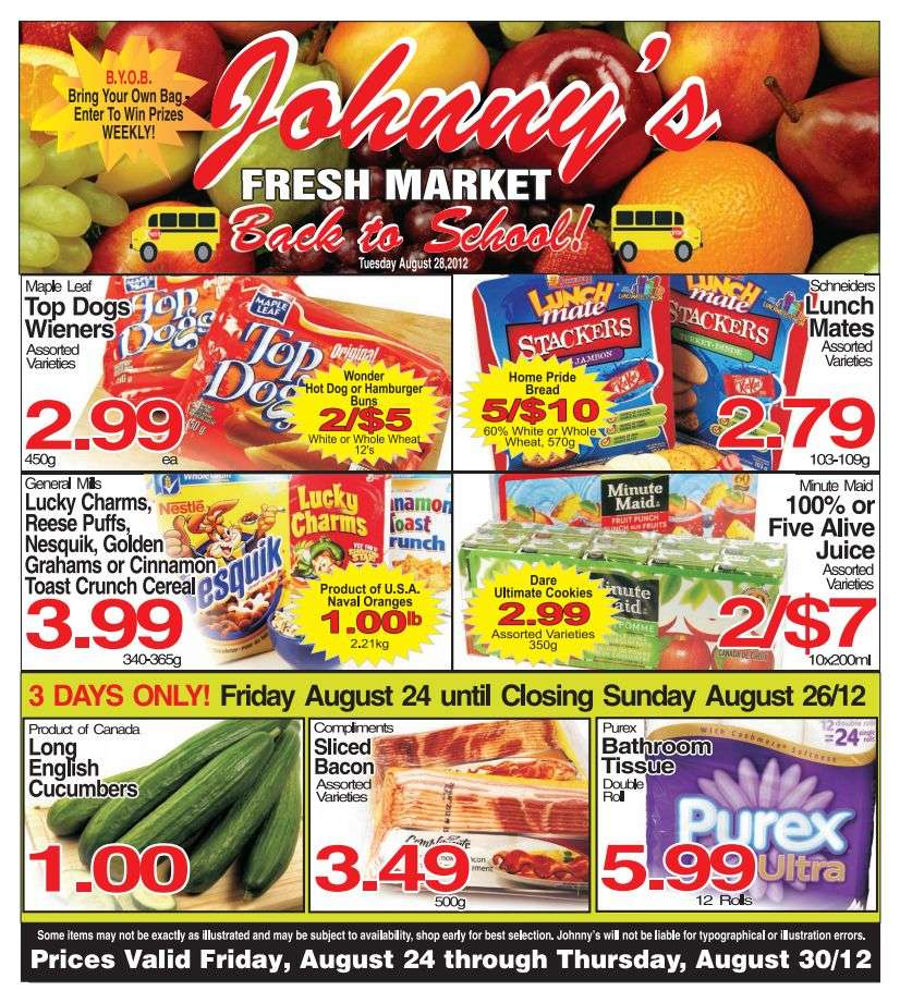 Johnny 39 s fresh market flyer aug 24 to 30 for Johnny s fish market