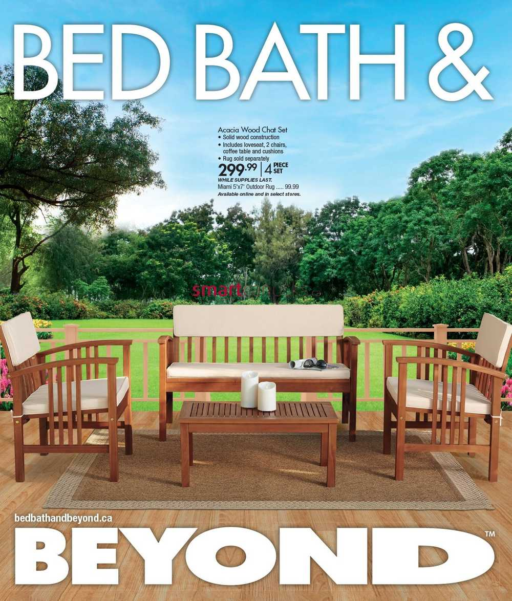 Bed Bath & Beyond Coupons and current Bed Bath & Beyond flyers in Winnipeg and surrounding area. Shop Bed Bath & Beyond for bedding, bath towels, kitchen electrics, cookware, cutlery, coffee makers, window treatments, storage items, gifts and more!