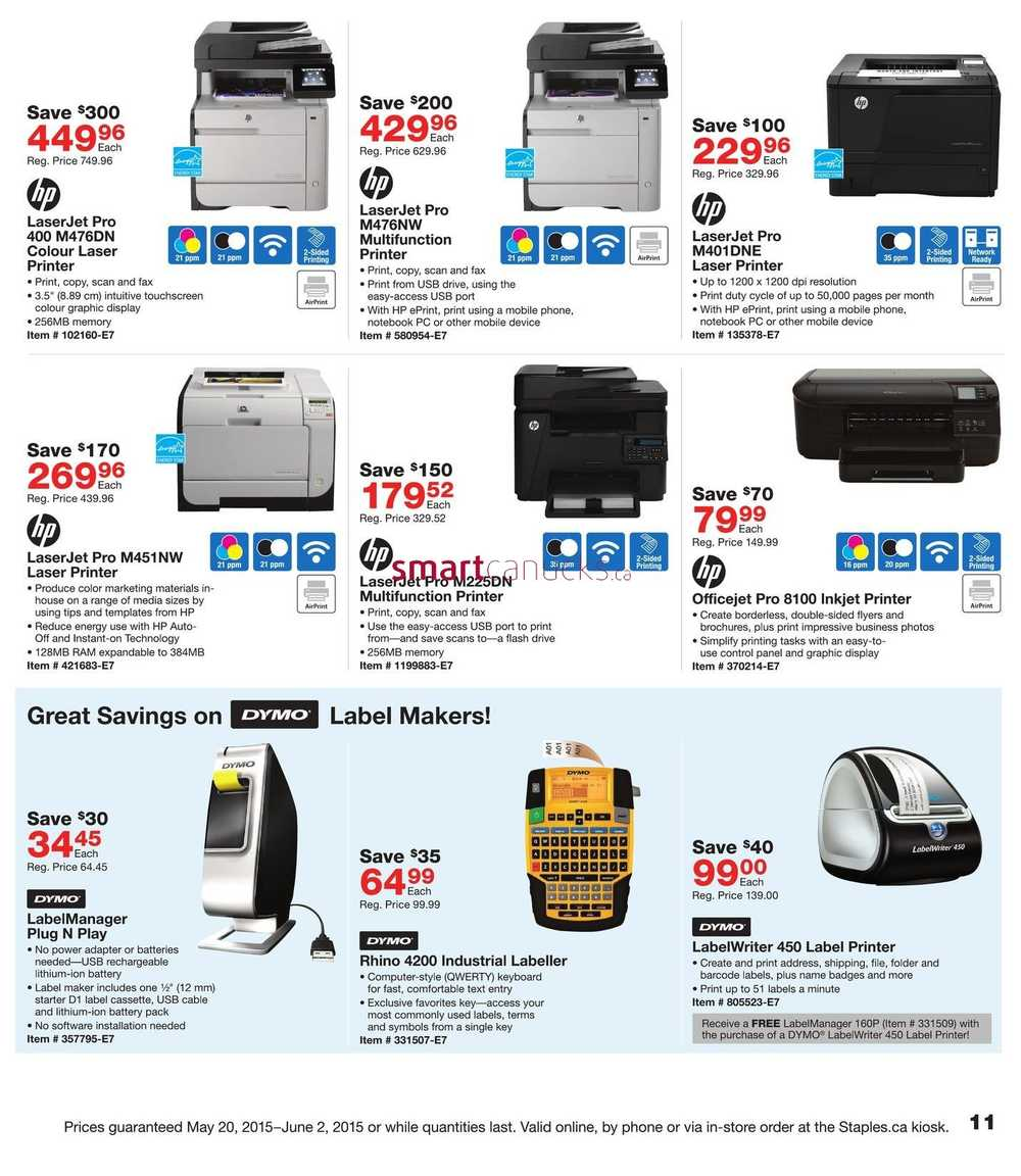 Staples Business Delivery Flyer May 20 to June 2