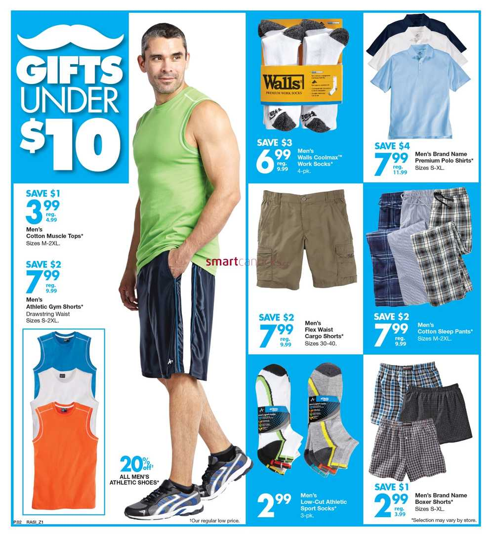 mens clothing store flyer