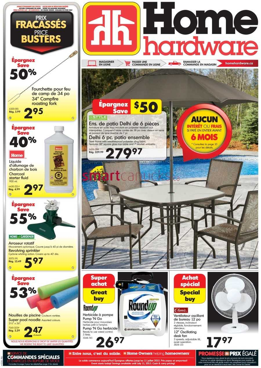 Home Hardware Foyer : Home hardware qc flyer july to