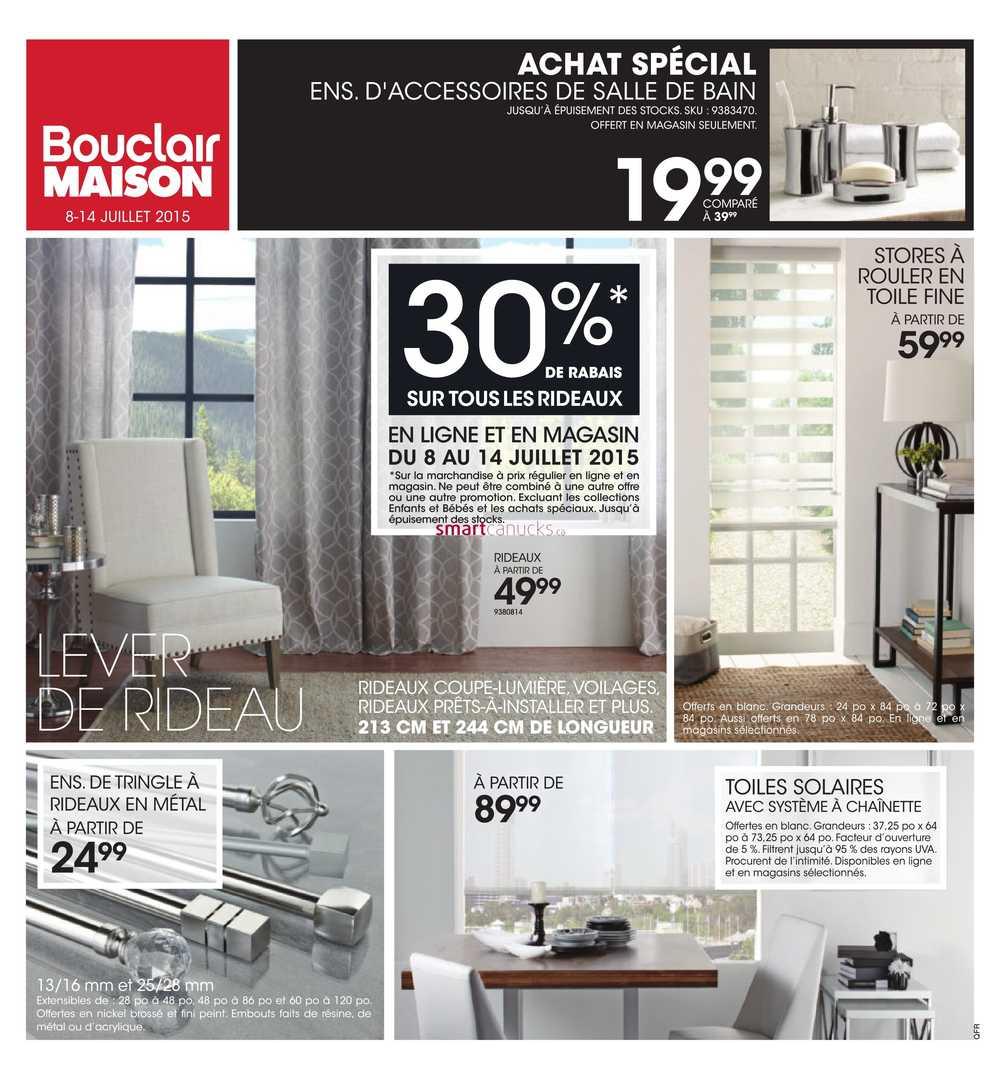 Accessoire Salle De Bain Bouclair ~ bouclair qc flyer july 8 to 14