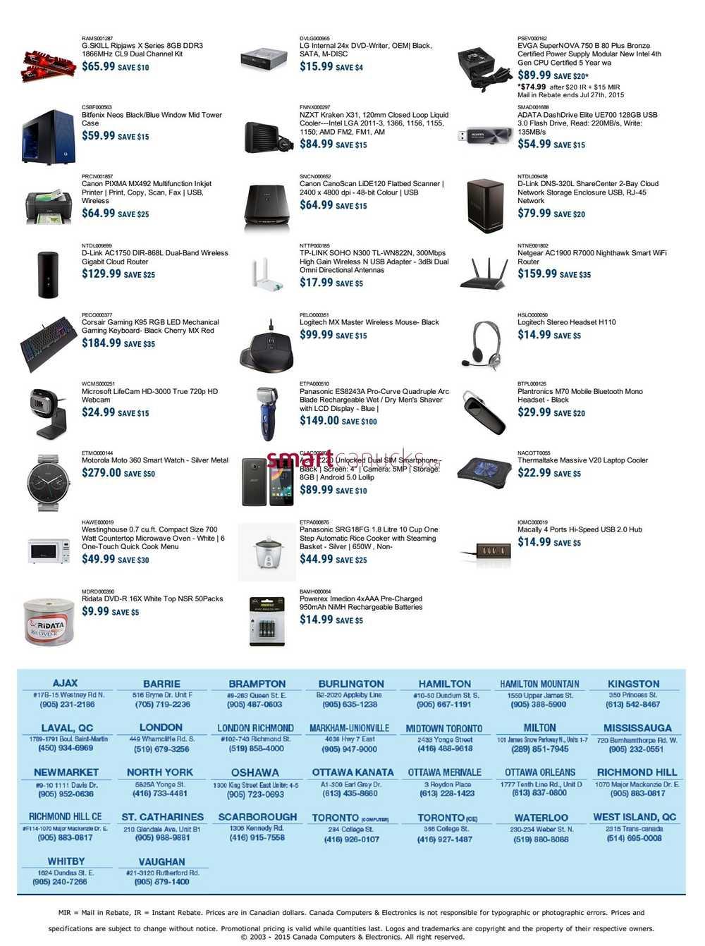 Best deals on computer parts canada