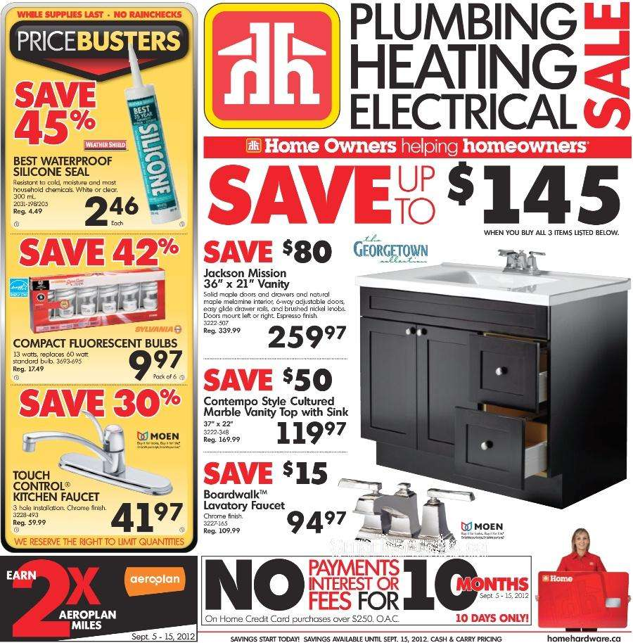 Home Hardware Foyer : Home hardware flyer sep to