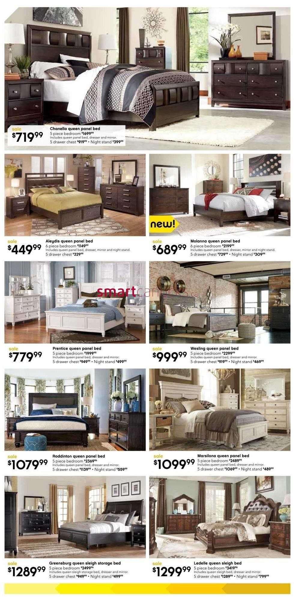 Ashley furniture homestore on flyer july 29 to august 23 for Ashley furniture homestore canada