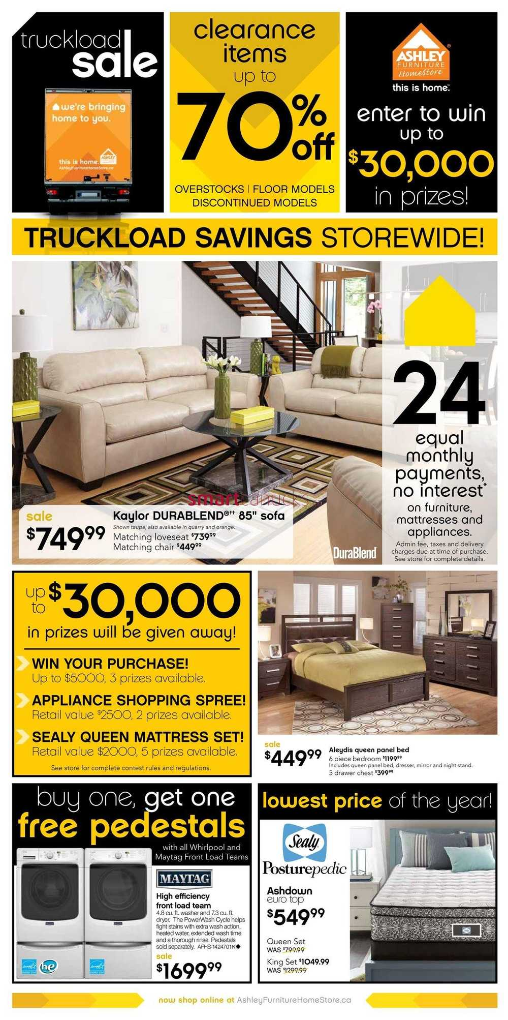 Ashley furniture homestore canada flyers for P s furniture flyer