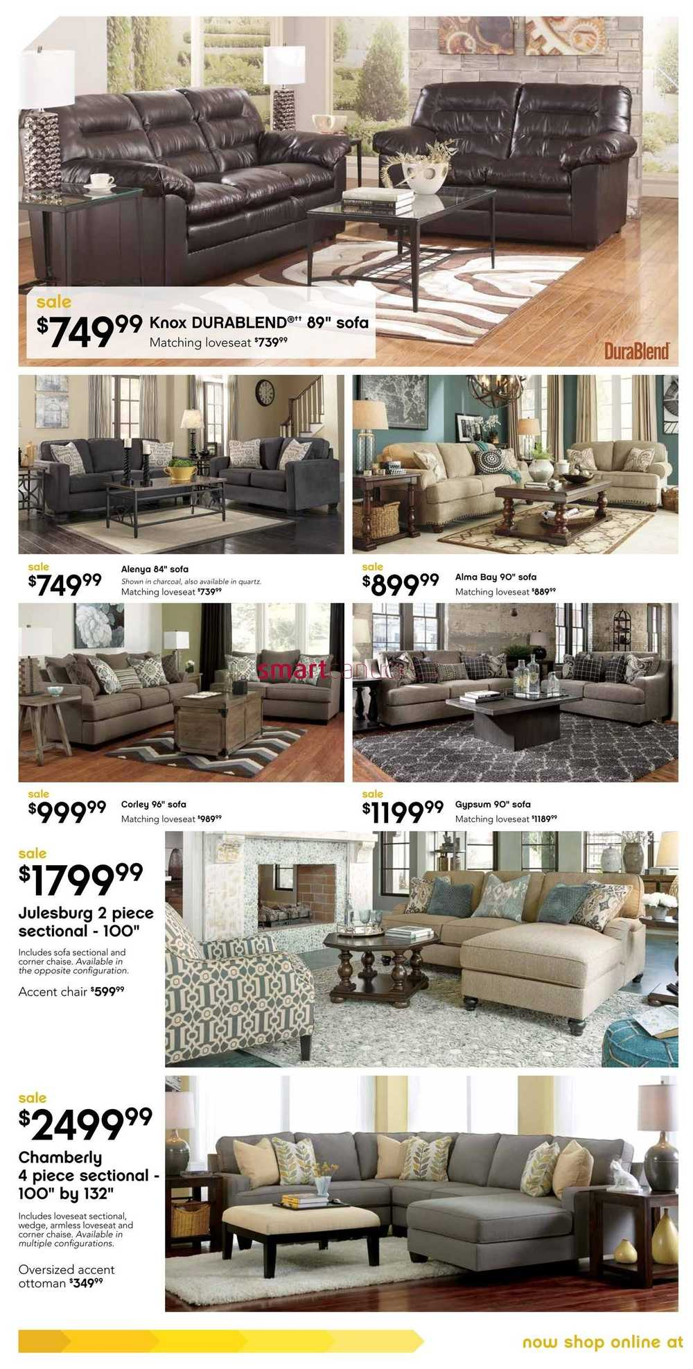 Ashley furniture homestore west flyer july 30 to august 23 for Ashley furniture homestore canada