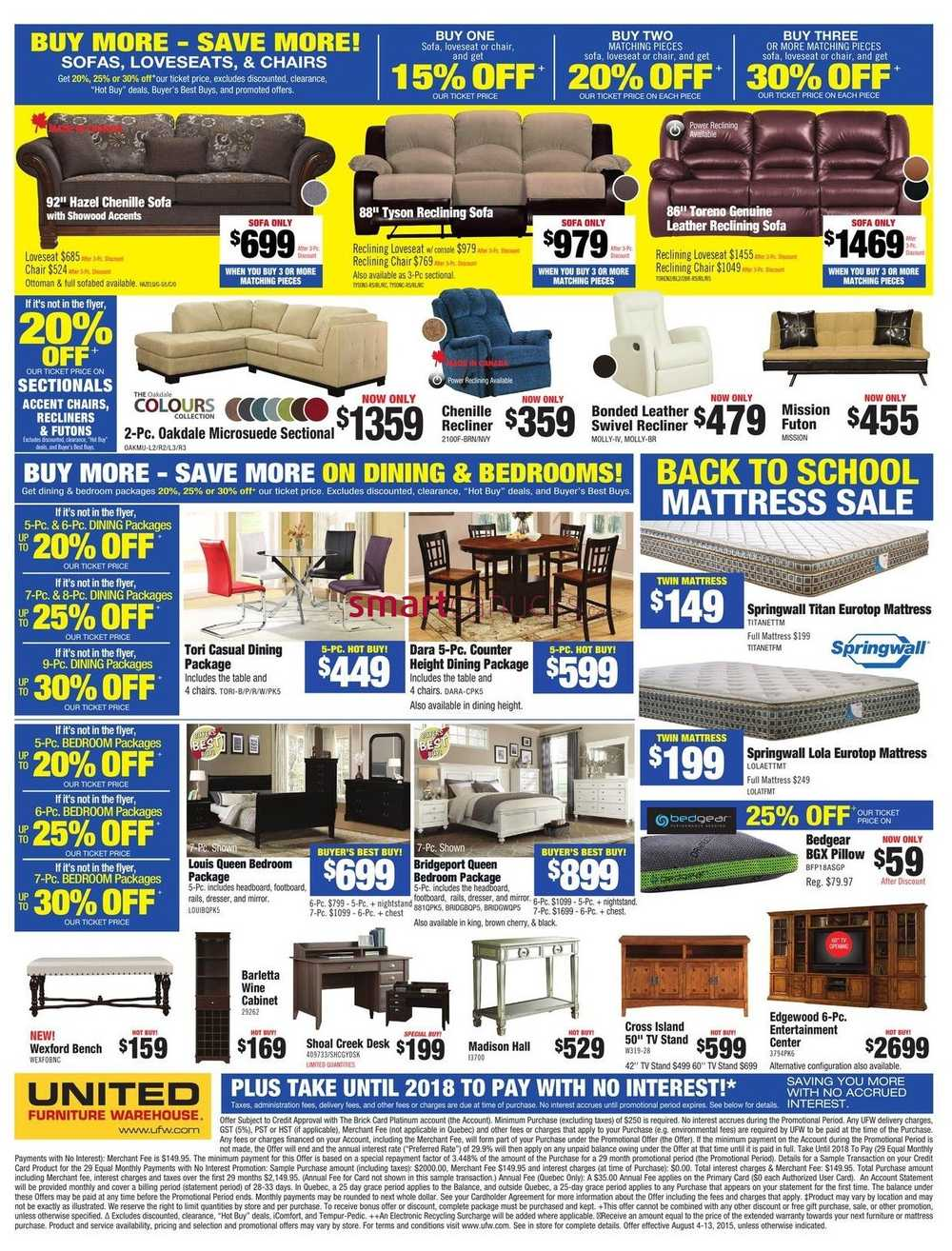 United Furniture Warehouse Flyer August 4 To 13