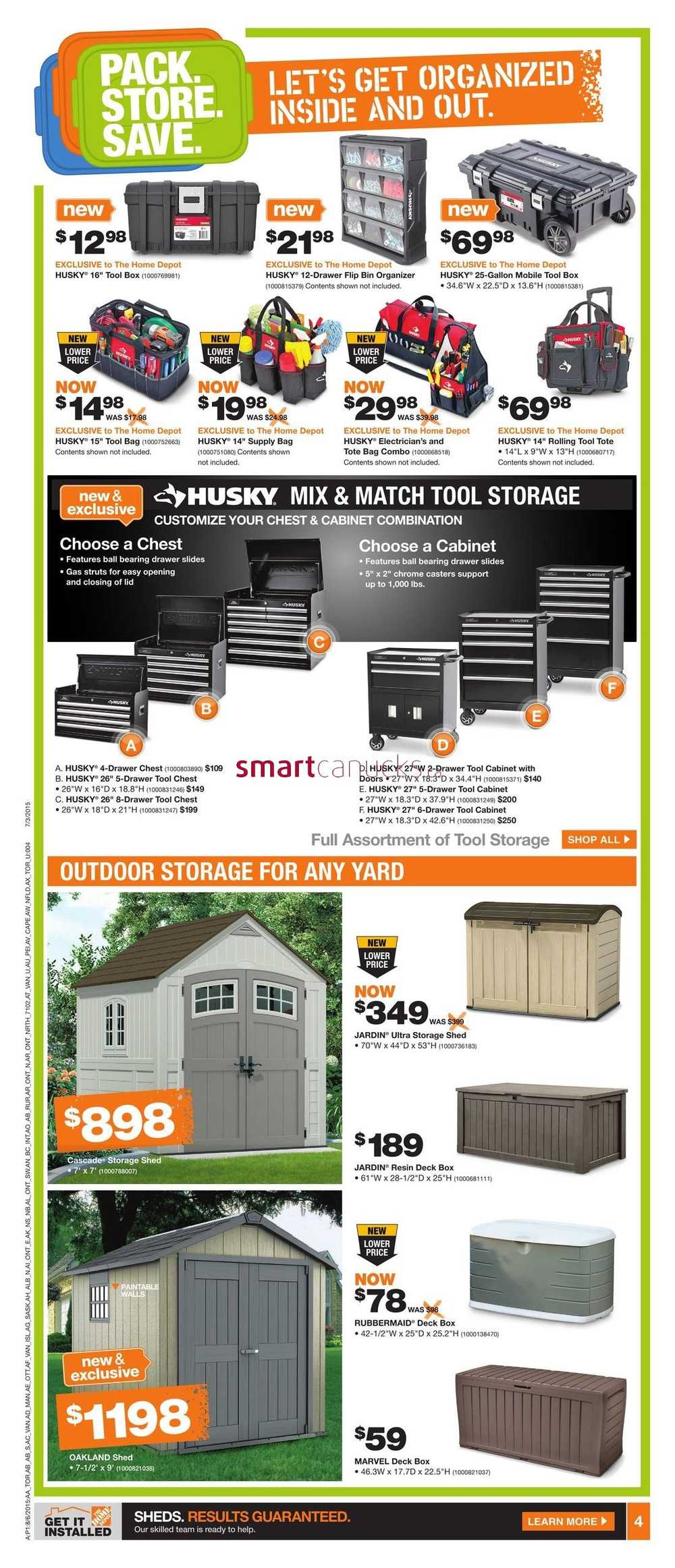 Home Depot On Flyer August 6 To 12