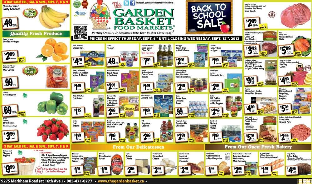 the garden basket flyer sep 6 to 12