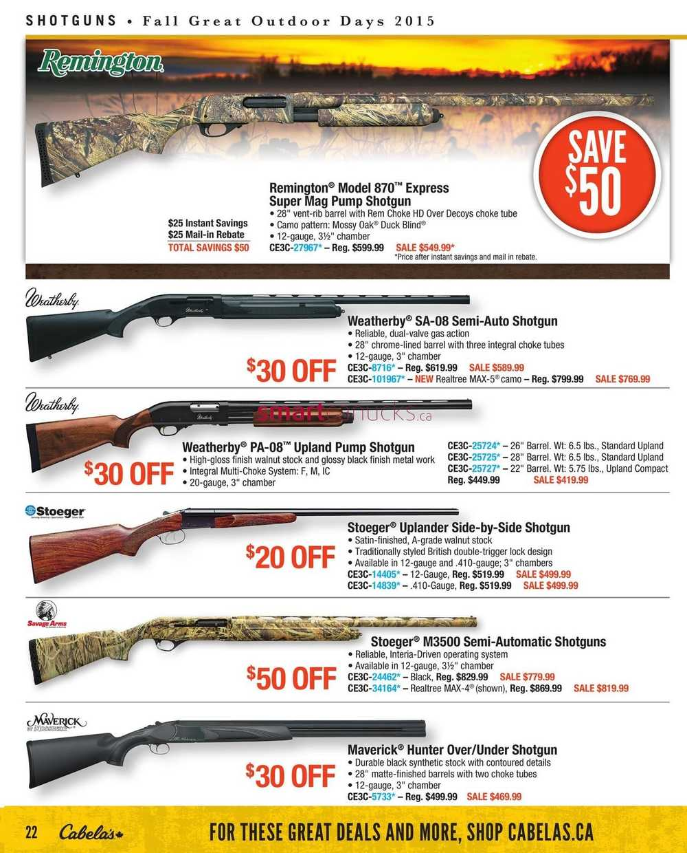 Cabela's Fall Catalogue August 13 to September 2