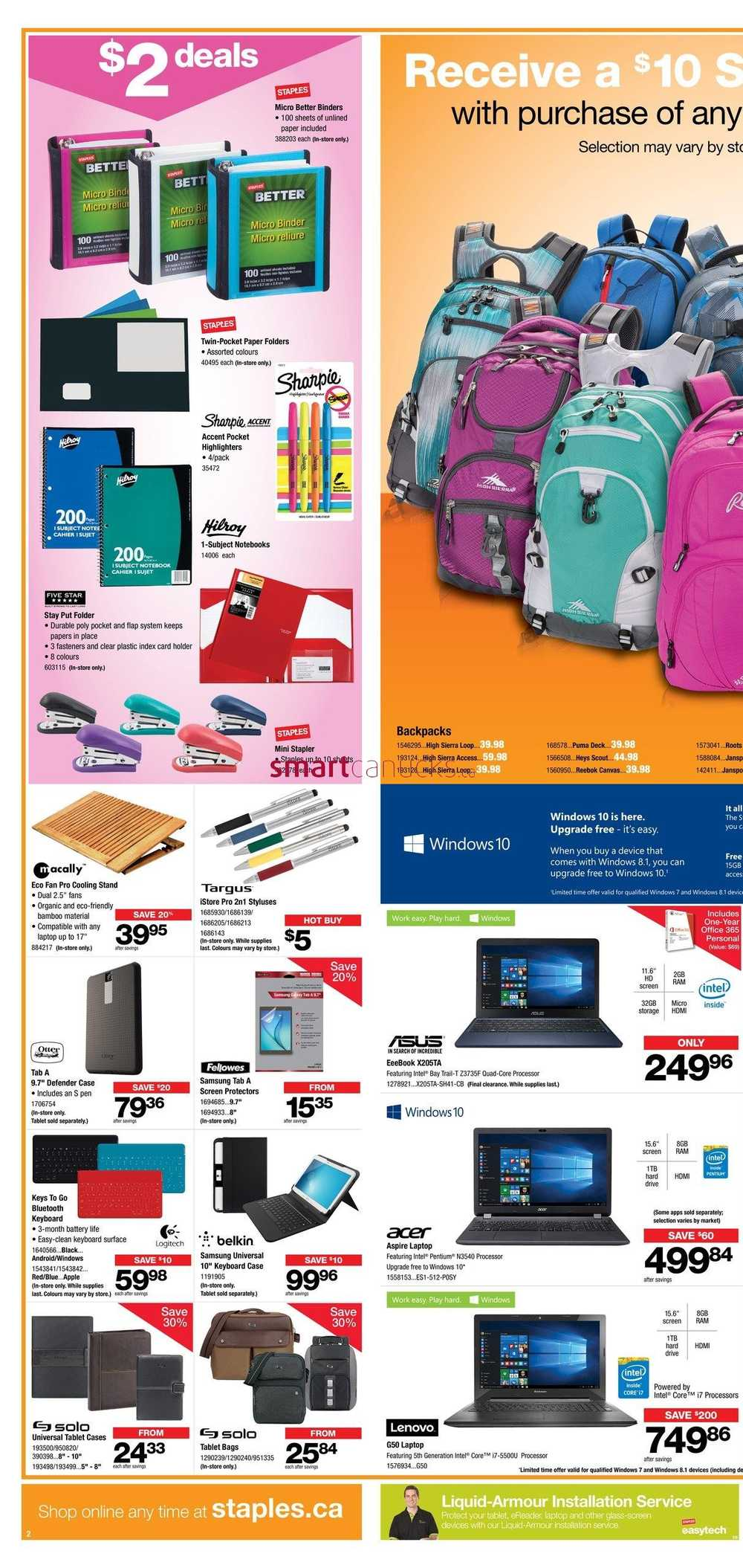 Staples Flyer August 19 To 25