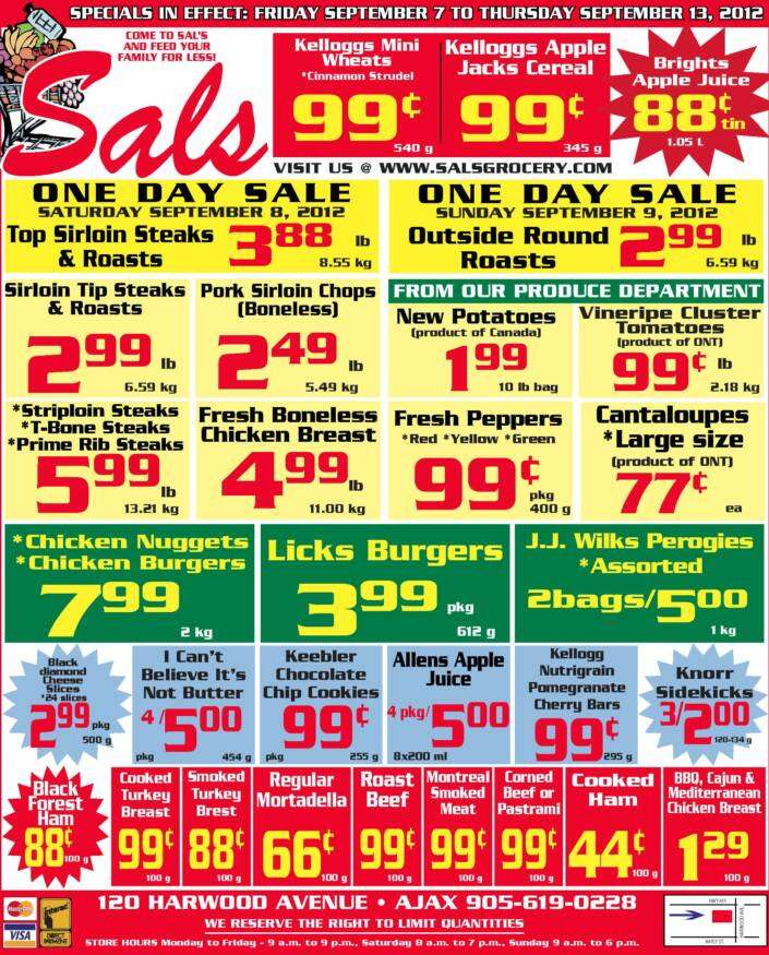 Sal's Grocery flyer Sep 7 to 13