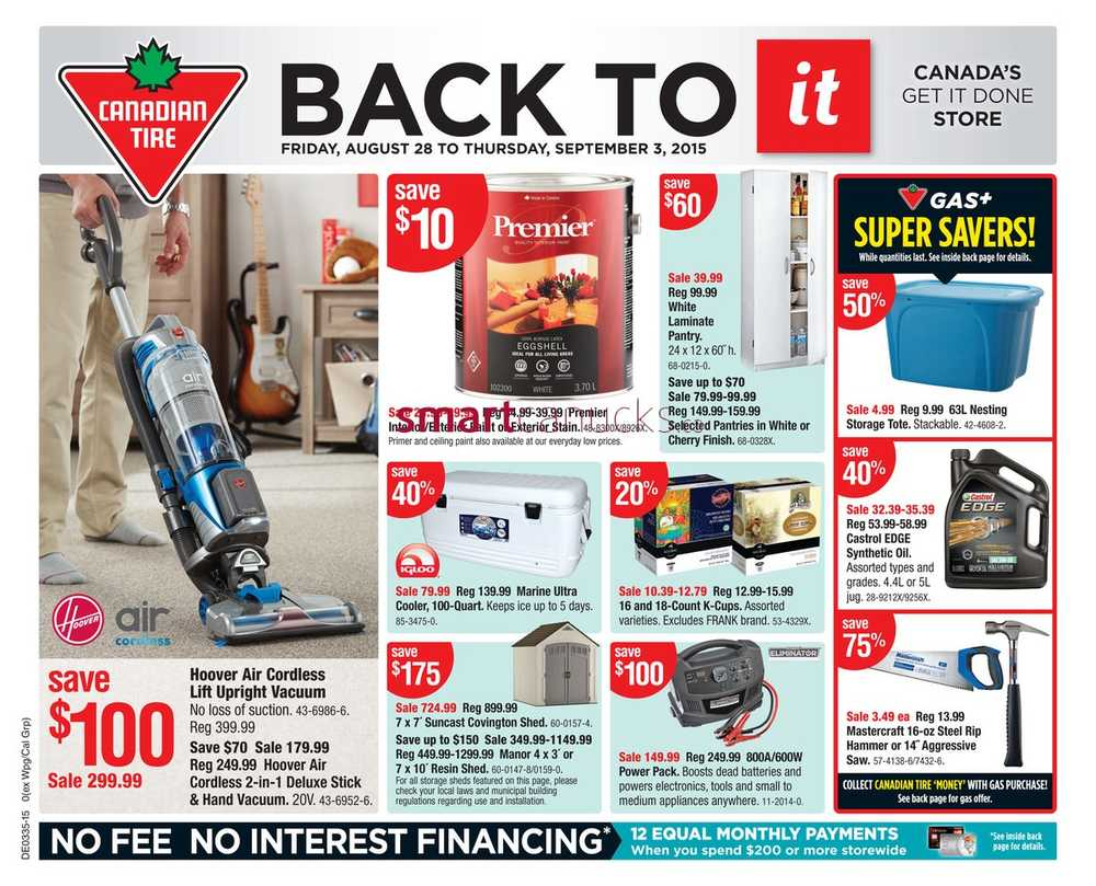Flyers Canadian Tire Page 68 Trailer Wiring Harness Kit Canada Ontario On Friday August 28 To Thursday September 3 2015
