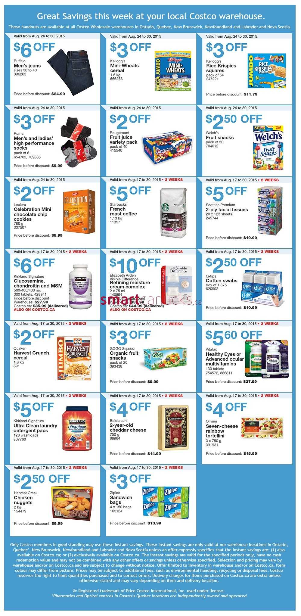 Costco Weekly Savings August 24 to 30