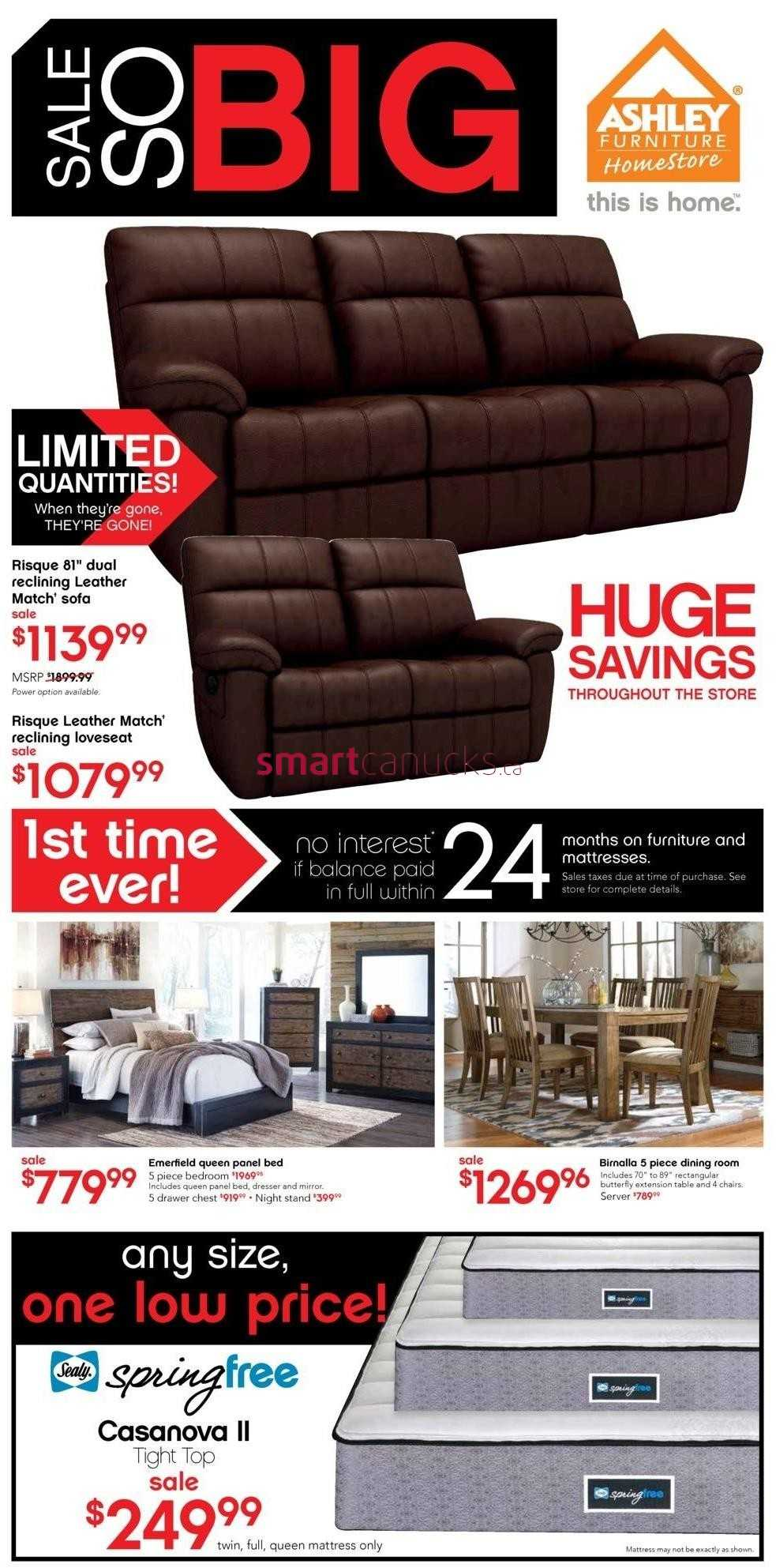 Ashley furniture homestore on flyer august 26 to september 1 Ashley home furniture weekly ad