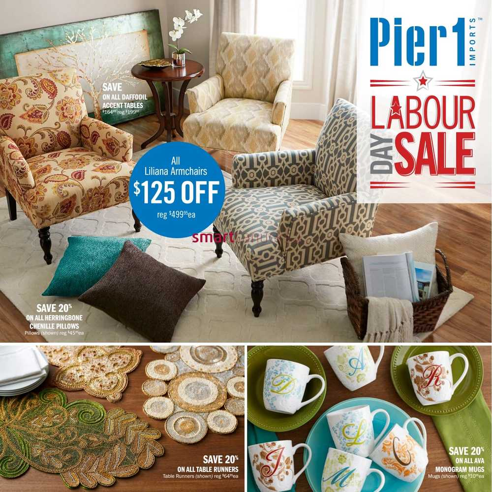 Pier 1 Imports Flyer August 31 to September 27. Pier 1 Imports Canada Flyers