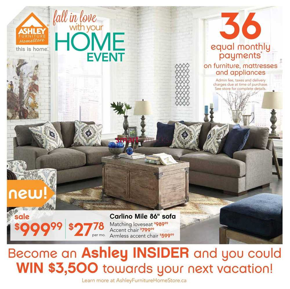 Ashley furniture homestore west flyer september 2 to 15 for Ashley furniture homestore canada