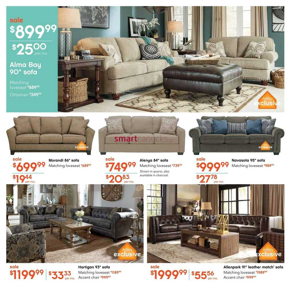 Ashley furniture homestore west flyer september 2 to 15 Home furniture outlet cerritos