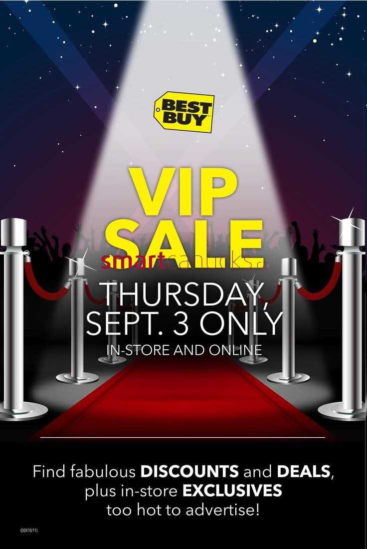 best buy vip sale september 3rd