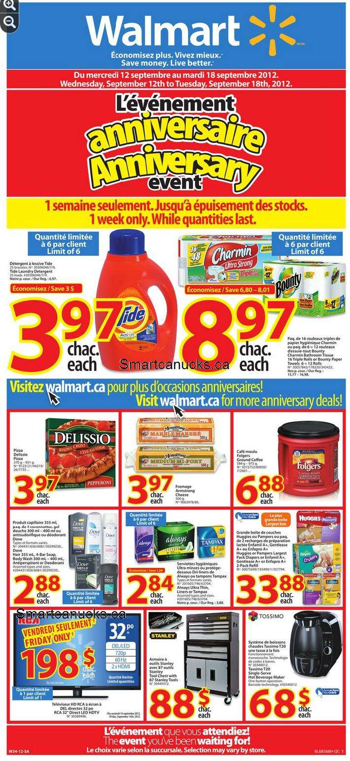 Walmart anniversary sale flyer qc sep 12 18 walmart canada flyers