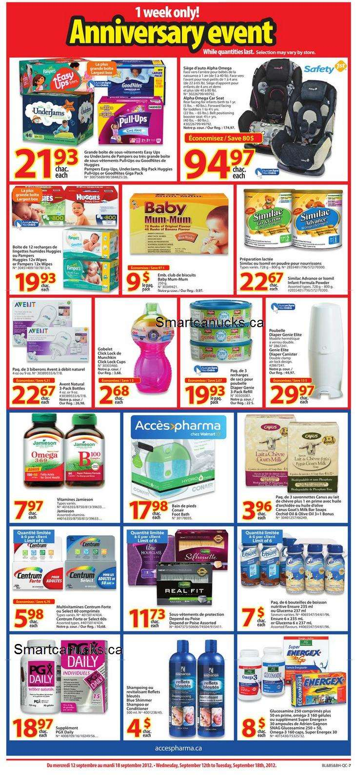Walmart qc anniversary sale flyer sep to