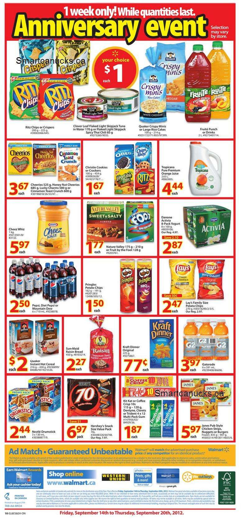 Flyer walmart anniversary sale sep to canada