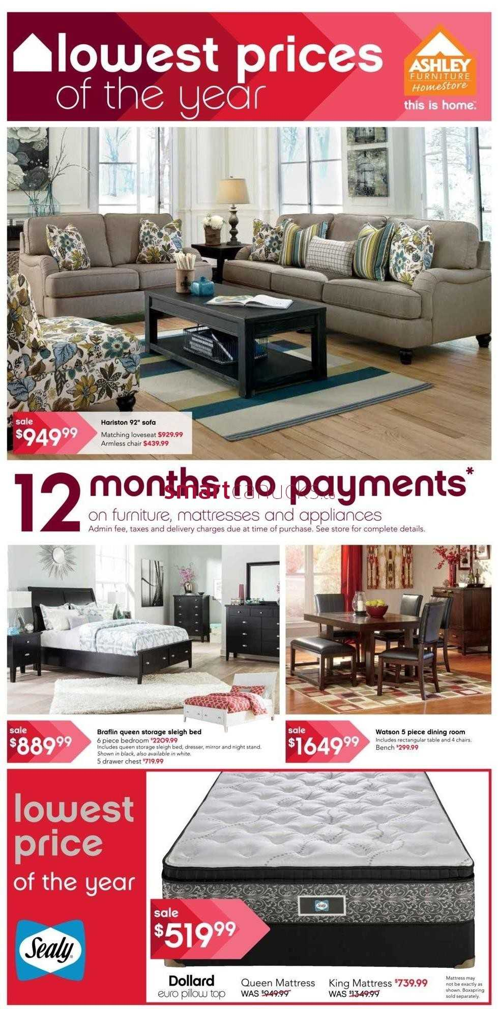 Ashley furniture home store on flyer september 17 to 30 for Ashley furniture homestore canada
