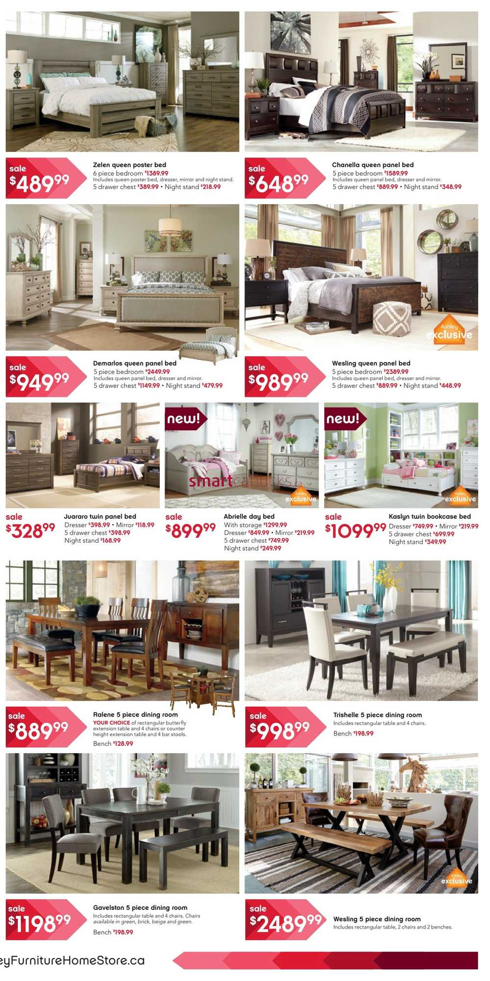 Ashley furniture home store west flyer september 17 to 30 for Ashley furniture homestore canada