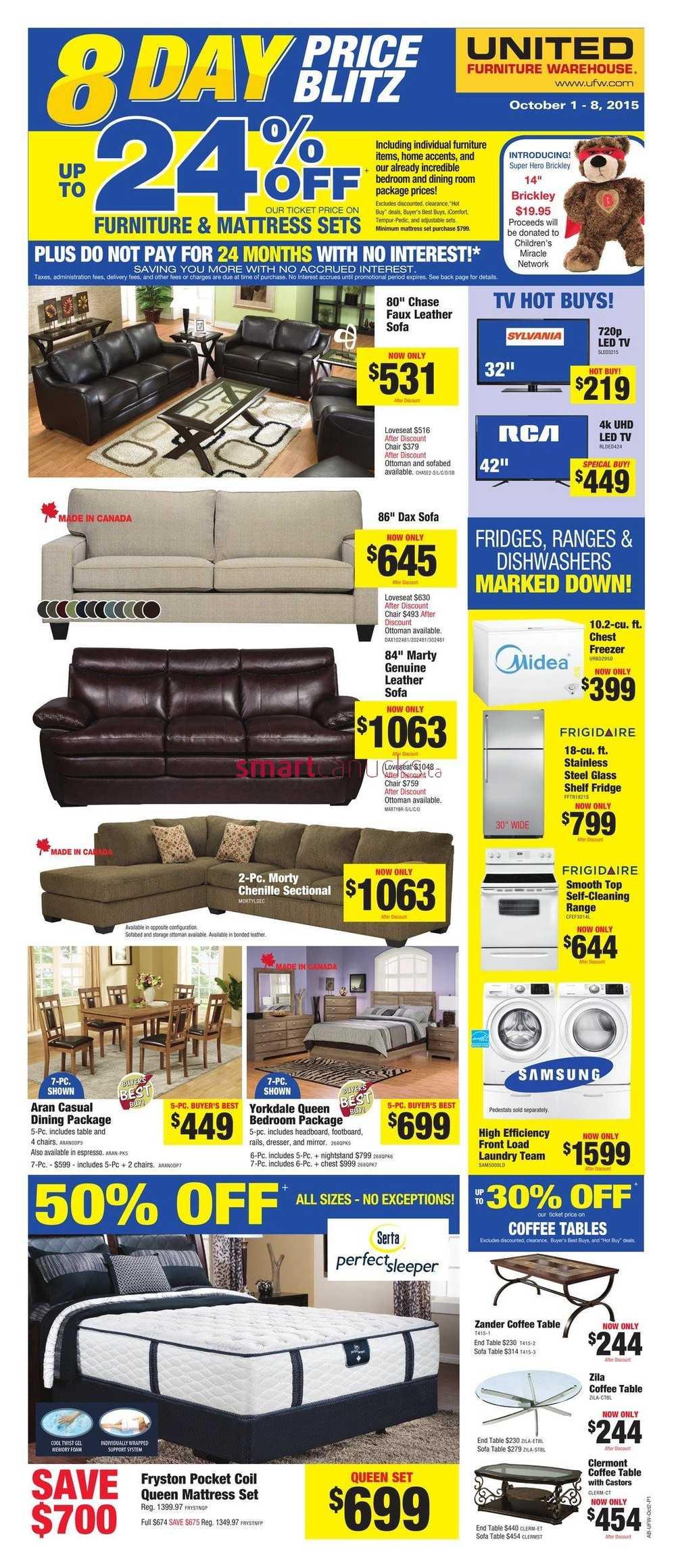 United Furniture Warehouse United Furniture Warehouse Flyer October 1