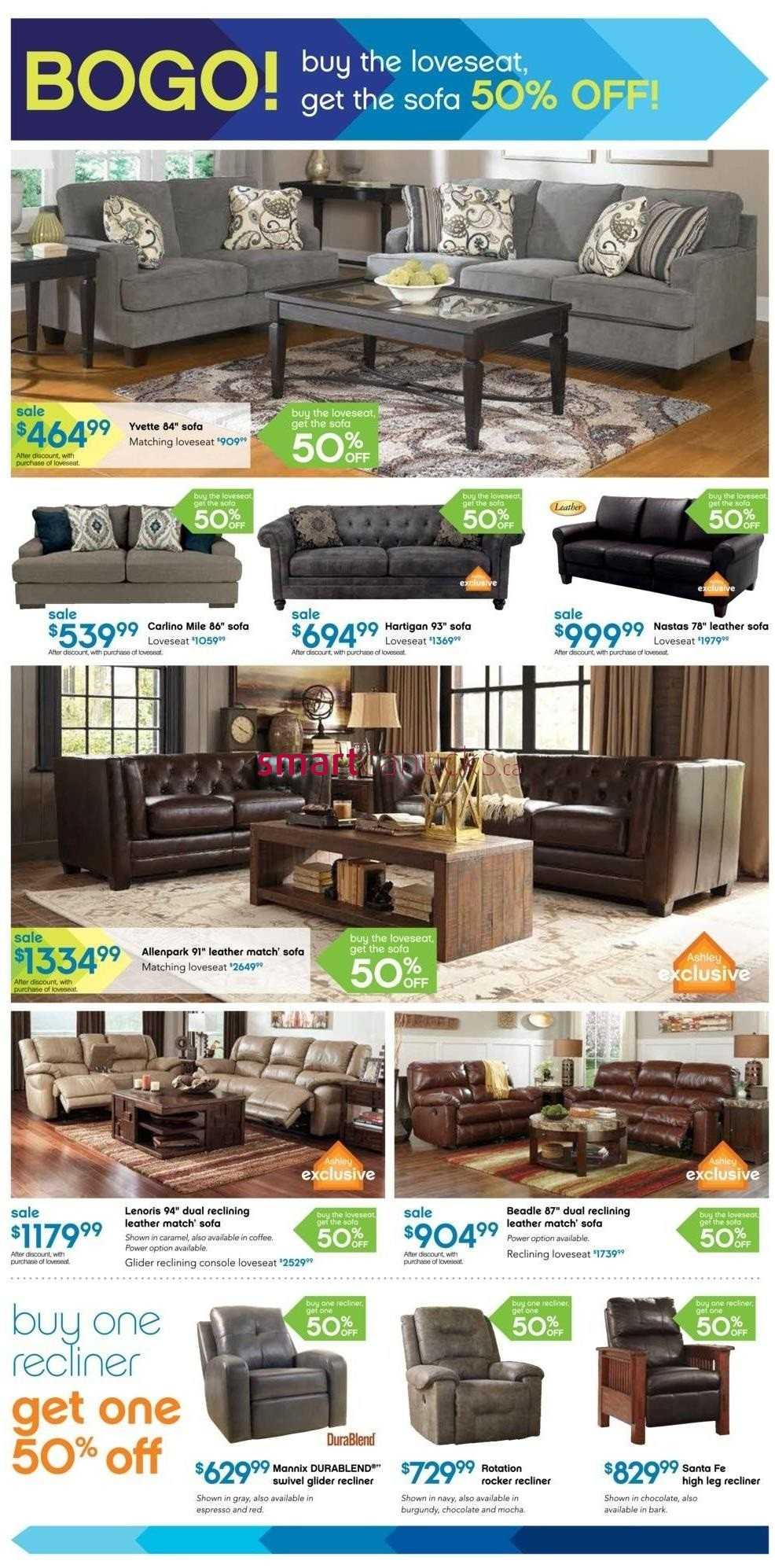 Ashley Furniture Home Store On Flyer October 2 To 4
