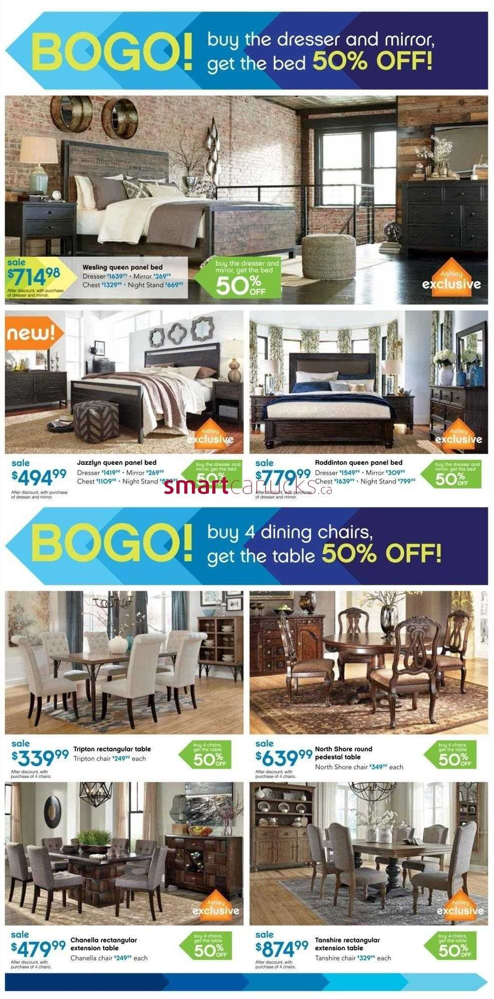 Ashley furniture home store on flyer october 2 to 4 for Ashley furniture homestore canada