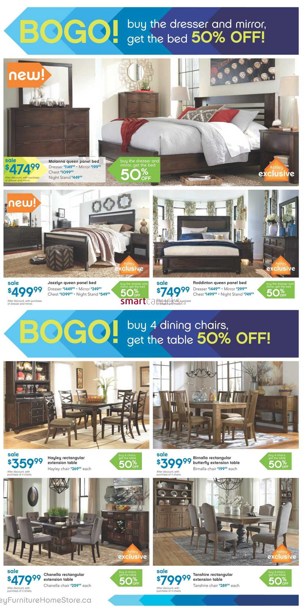 Ashley furniture home store west flyer october 2 to 4 for Ashley furniture homestore canada