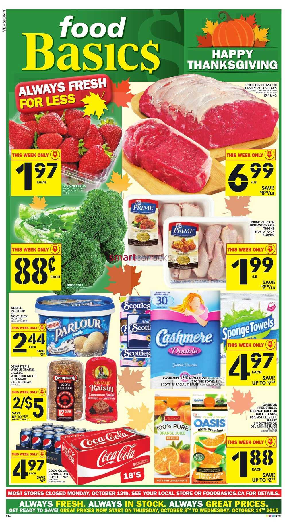Canada Flyers Food Basics