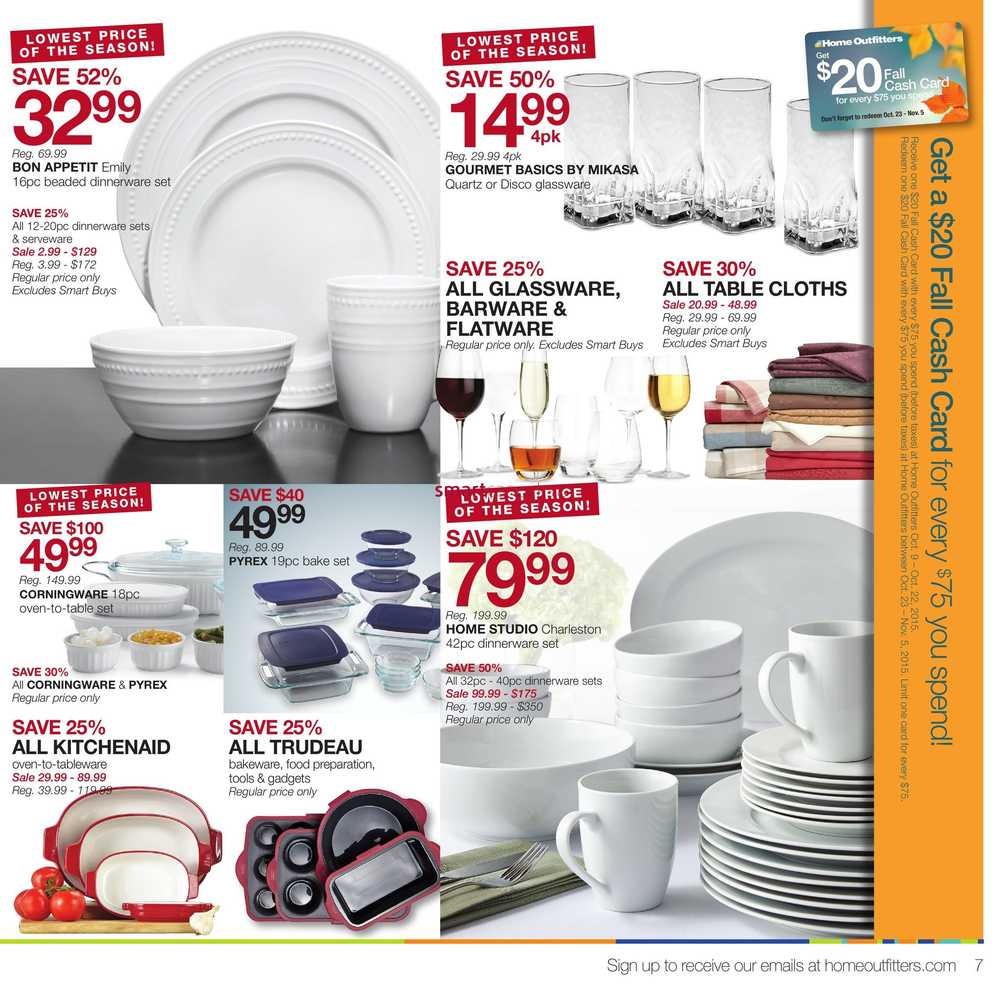 View Single · Simplified View · More Home Outfitters Flyers  sc 1 st  Smart Canucks & Home Outfitters Flyer October 9 to 15