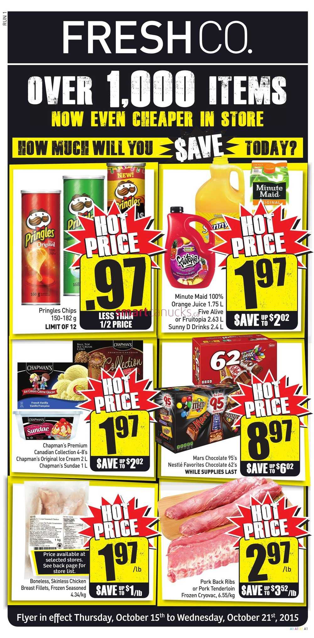 FreshCo Canada Weekly Flyers: Thursday, October 15 To