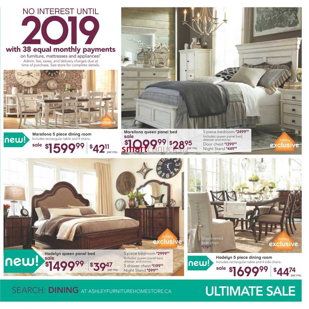 Ashley furniture home store west flyer november 4 to 18 for Ashley furniture homestore canada
