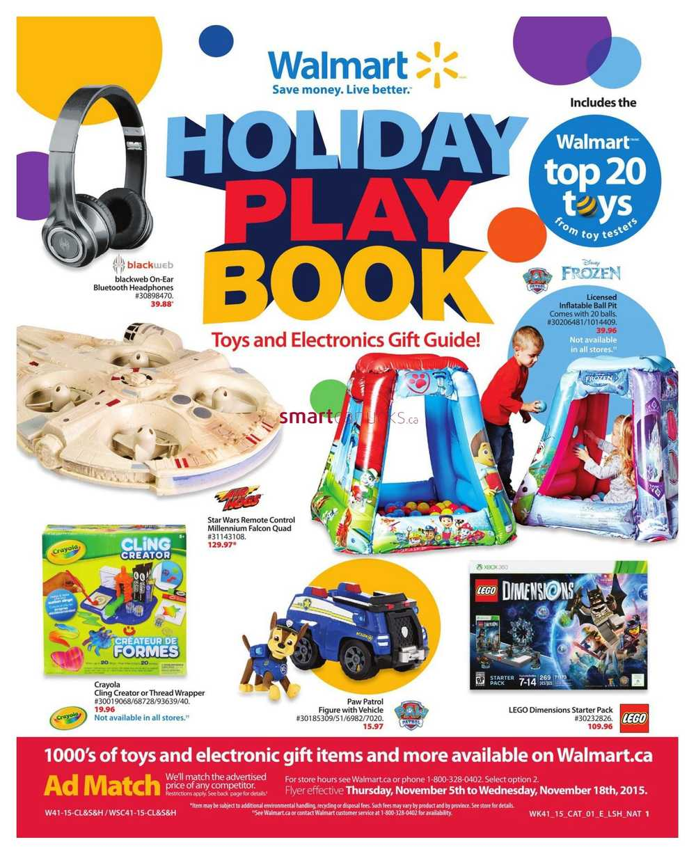 Walmart Canada Toys Gift Guide November 6 To 18 Walmart Canada Flyers Coupons Sales