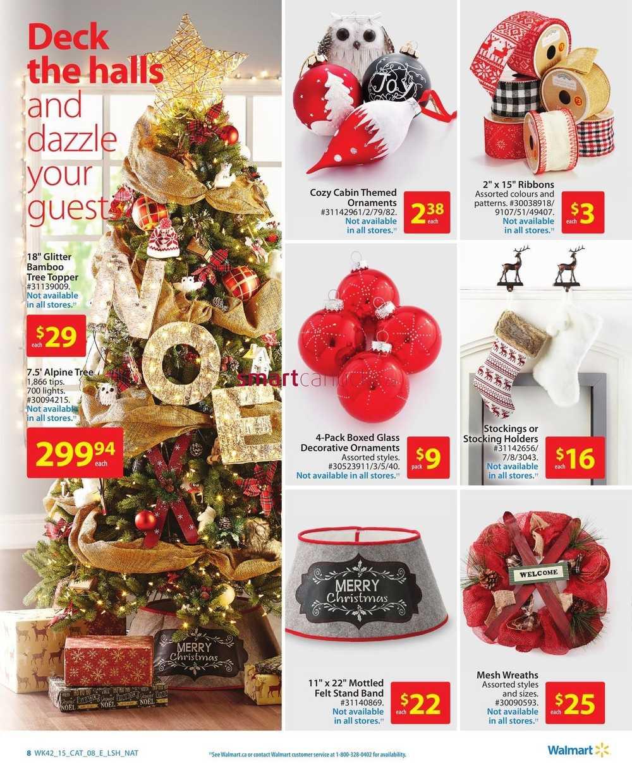 Walmart Holiday Decor Catalogue November 12 To 25