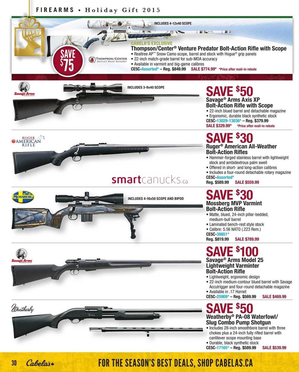 Cabela's Holiday Gift Guide November 12 to 25