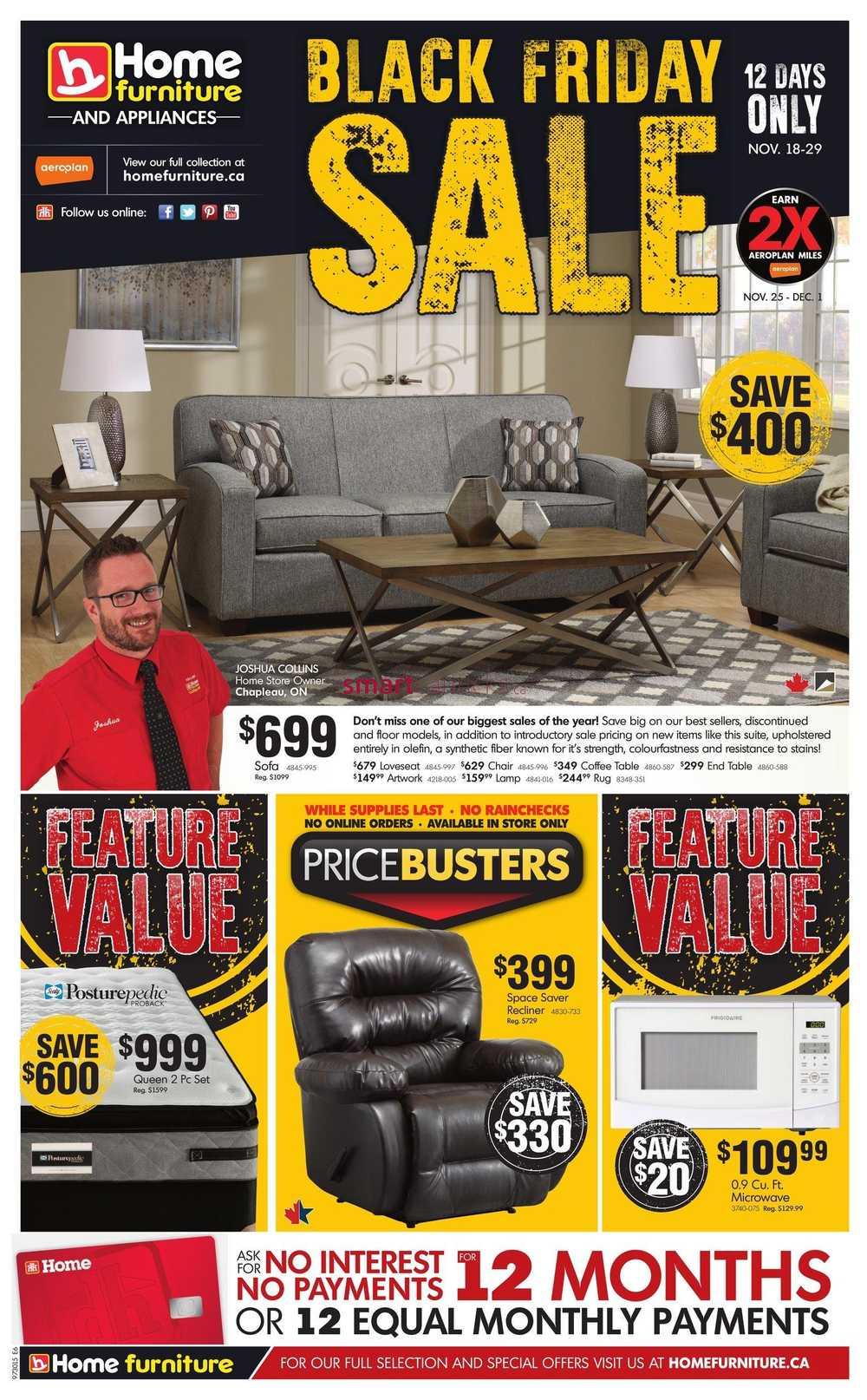 Home Furniture On 2015 Black Friday Sale Flyer