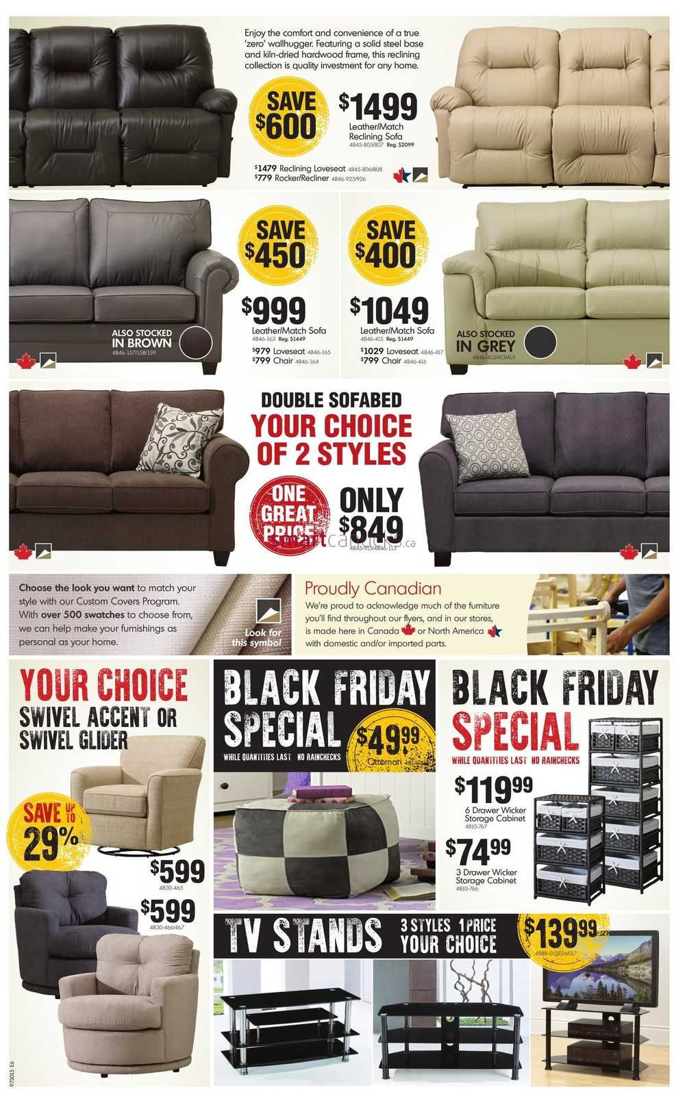 Home furniture on 2015 black friday sale flyer for Furniture black friday