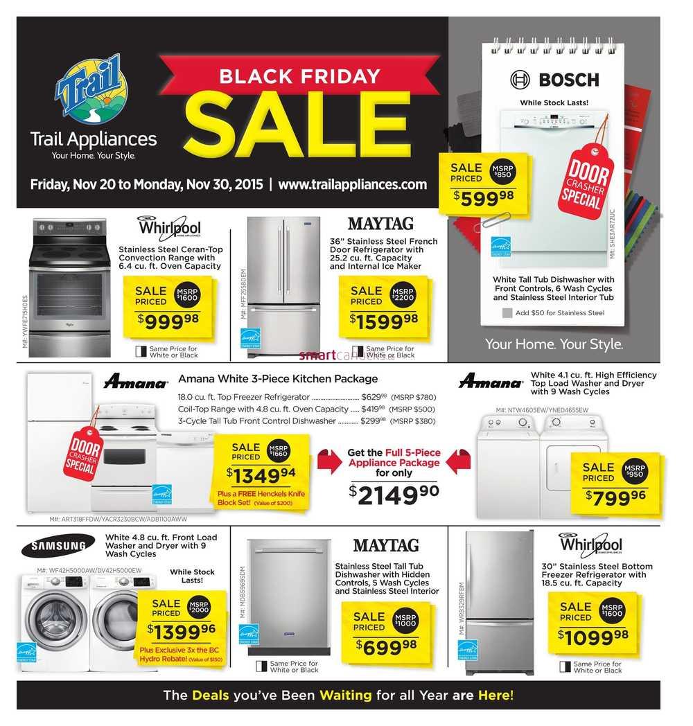 Trail Appliances Bc Black Friday Flyer November 20 To 30