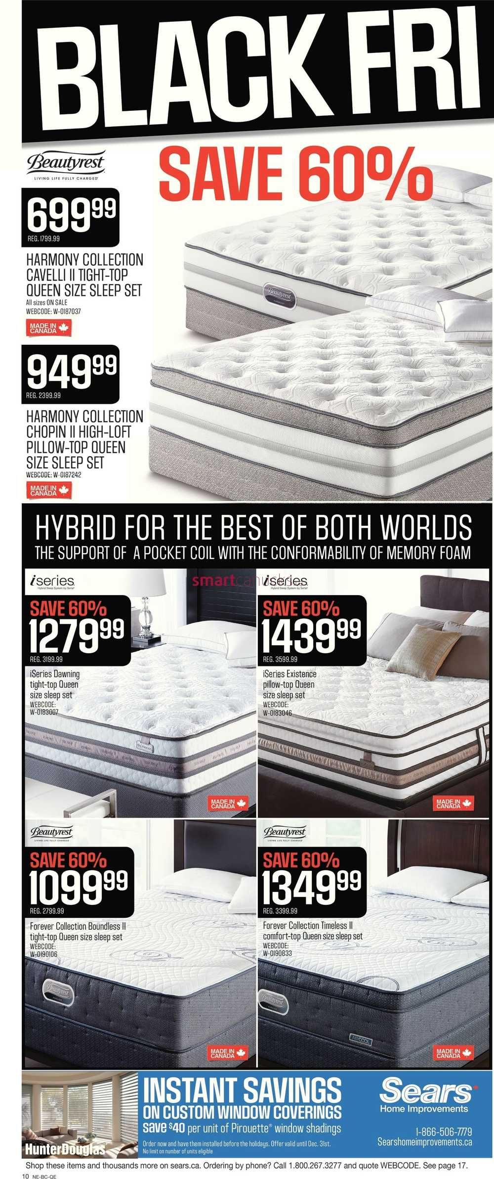 sears canada black friday flyer november 26 30 2015. Black Bedroom Furniture Sets. Home Design Ideas