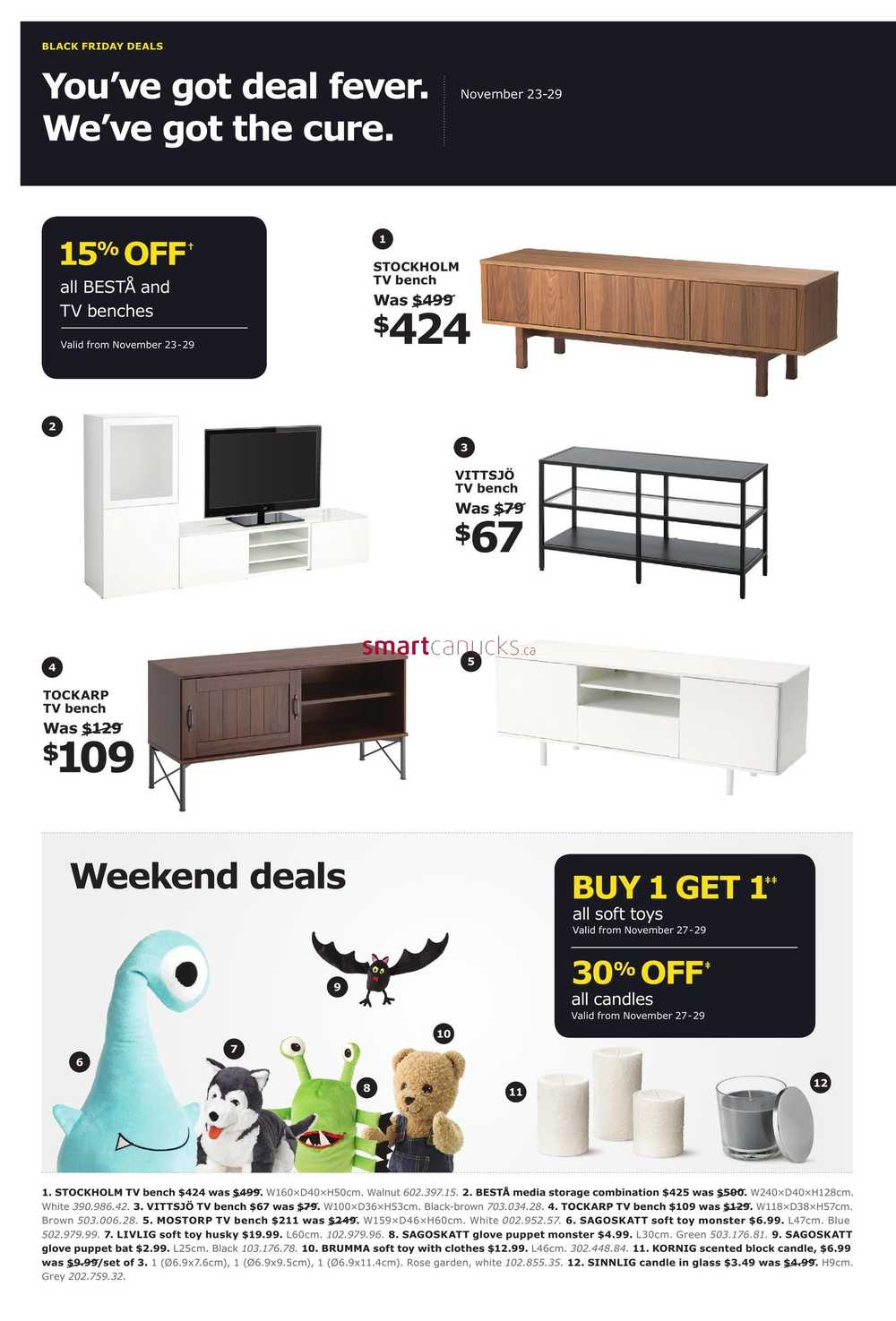ikea 2015 black friday week flyer november 23 to 29. Black Bedroom Furniture Sets. Home Design Ideas
