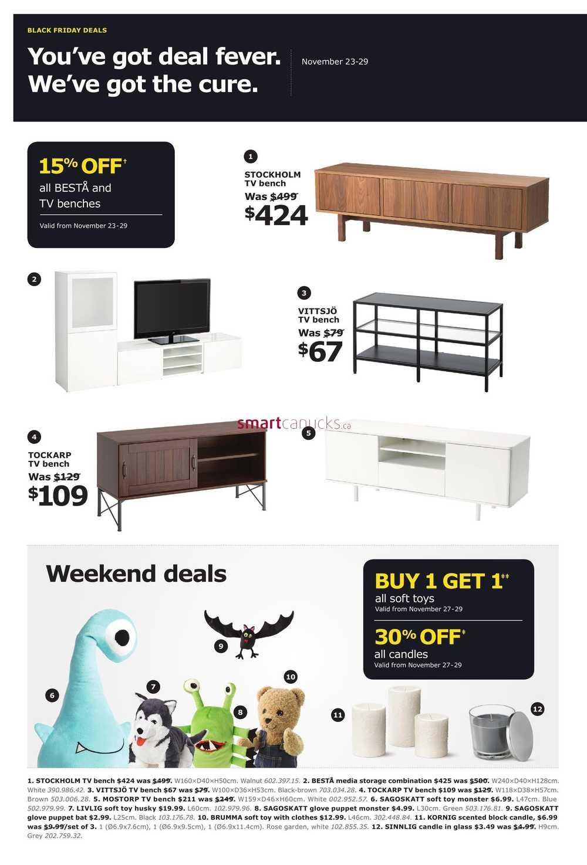 ikea 2015 black friday week flyer november 23 to 29. Black Bedroom Furniture Sets. Home Design Ideas