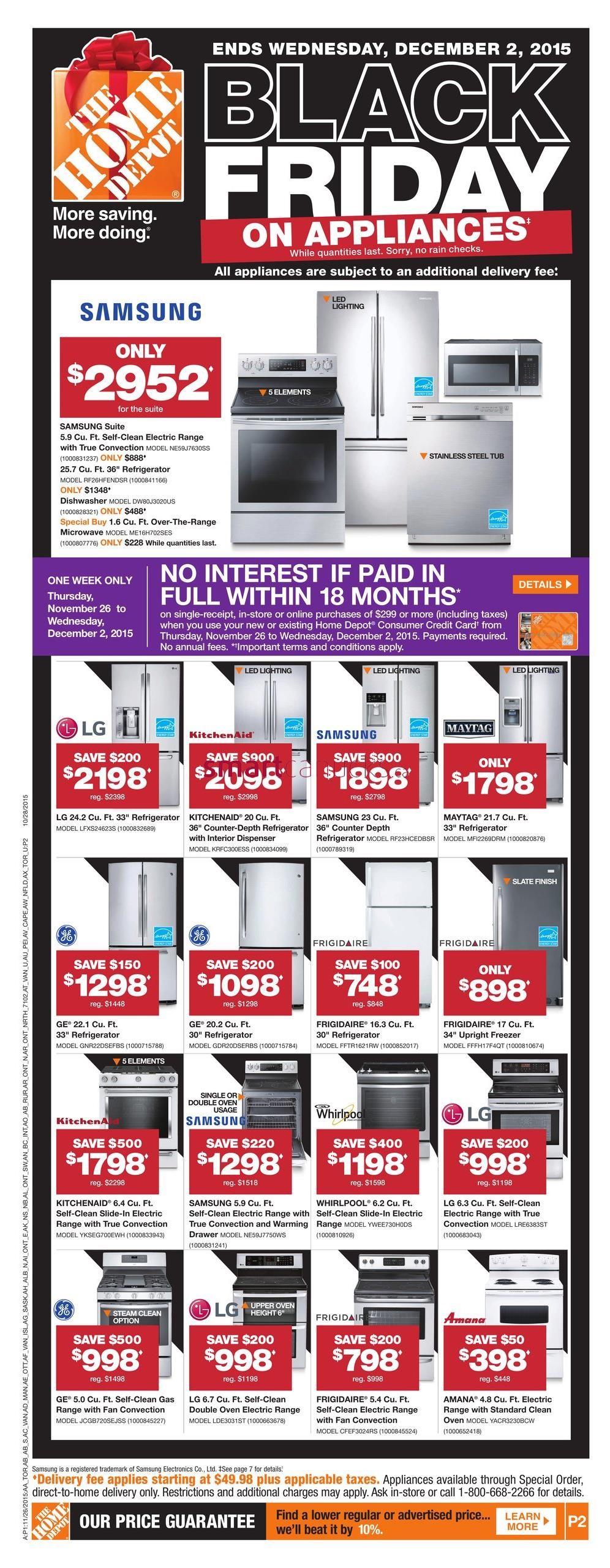 Home Depot On 2015 Black Friday Flyer November 26 To