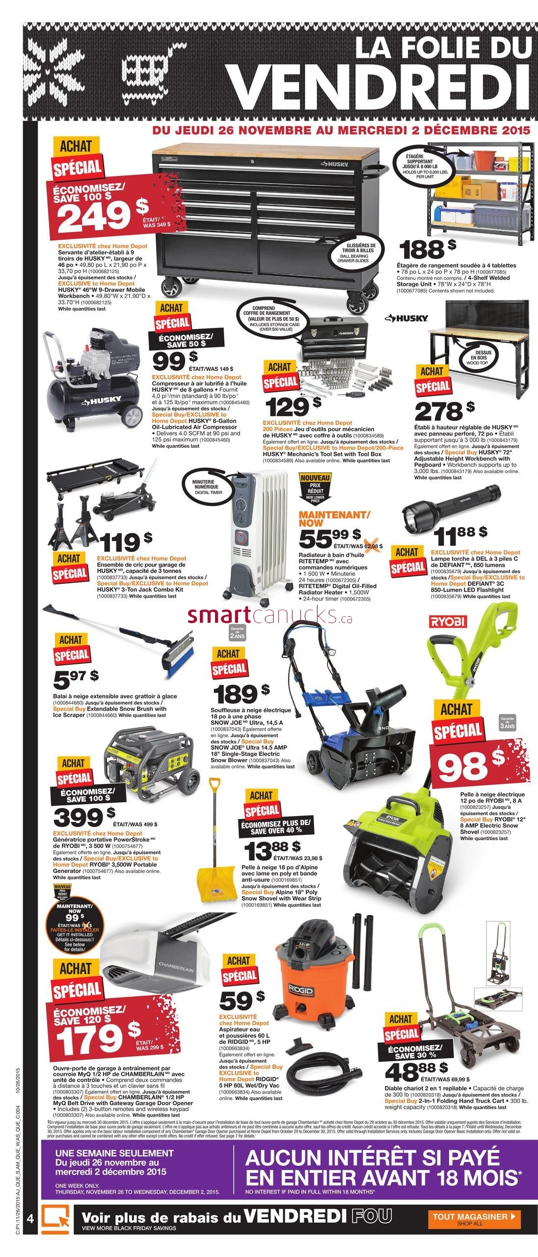 Black Friday Home Depot Canadat