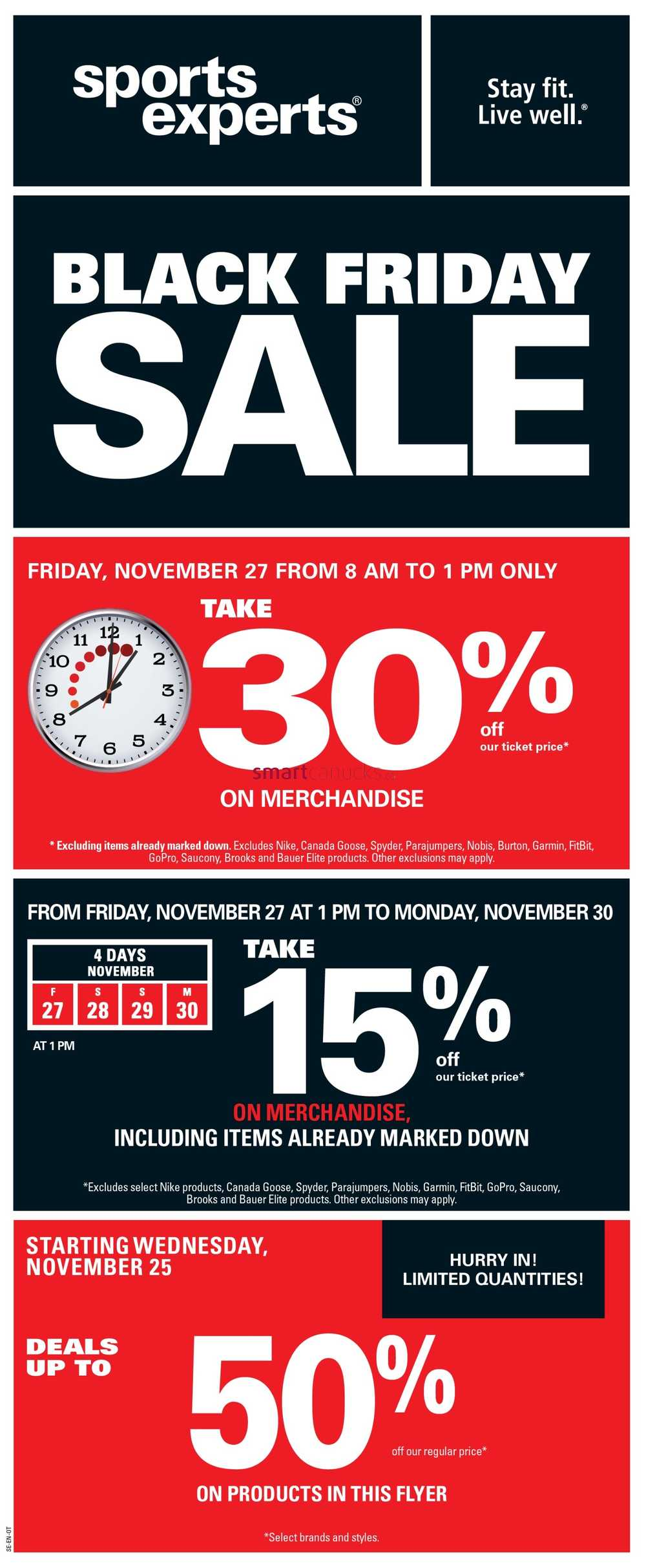 size 40 68777 565e6 Sports Experts Black Friday Flyer November 25 to December 6