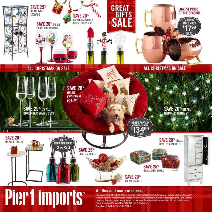 More Pier 1 Imports Flyers. Pier 1 Imports Flyer November 26 to 30